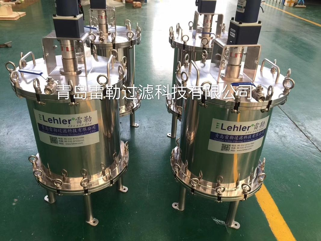 Mirror Polish Surface Automatic Self Cleaning Filters For Lithium Battery Slurry